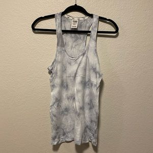 VS Pink Gray and White Tie Dye Racerback